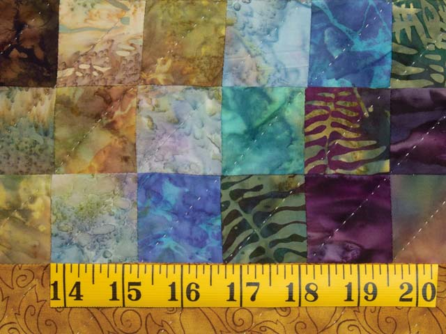 Gold and Plum Rainbow Reflections Quilt Photo 6