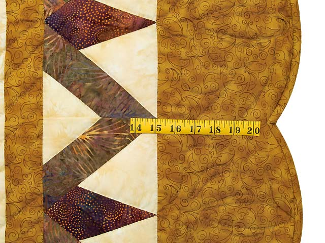 Gold and Plum Rainbow Reflections Quilt Photo 7