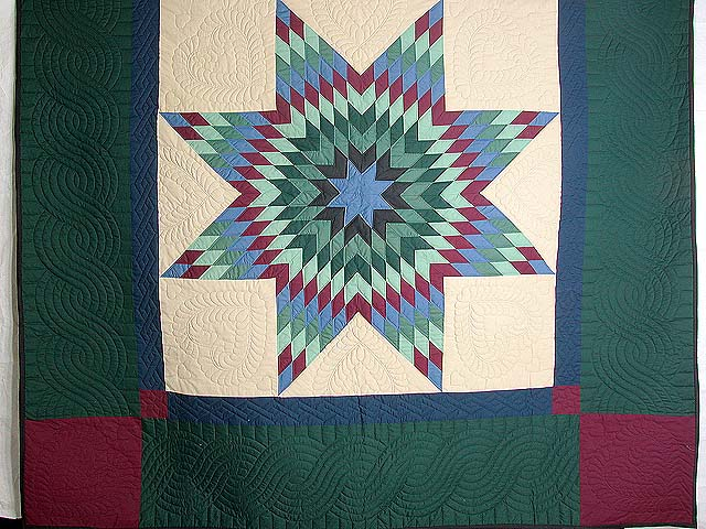 Amish Paperbag Lone Star Quilt Photo 3