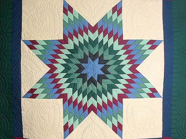 Amish Paperbag Lone Star Quilt Photo 4