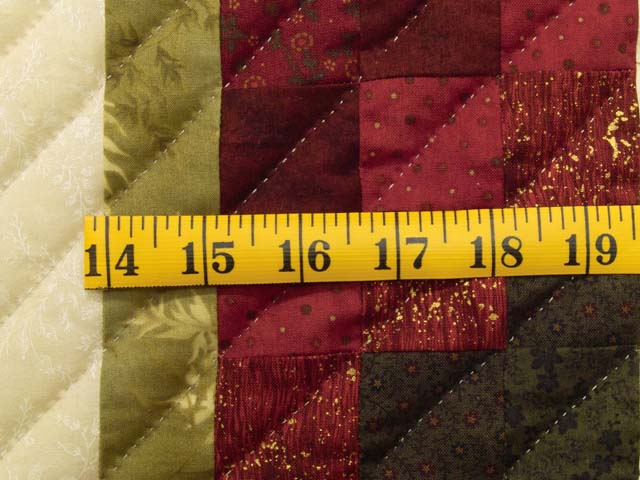 King Green Burgundy and Gold Rainbow Reflections Quilt Photo 6
