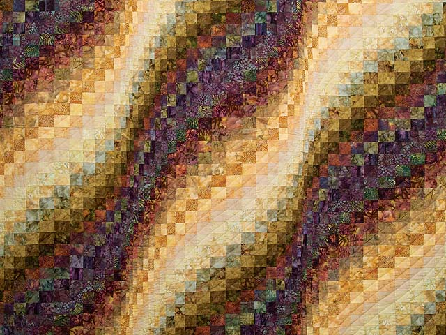 Hand Painted Bargello Wave Quilt Photo 3