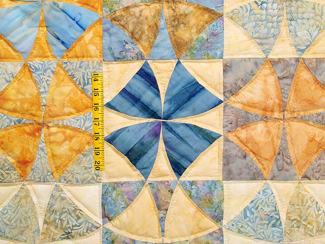 King Pastel Blue and Gold Winding Ways Quilt Photo 4