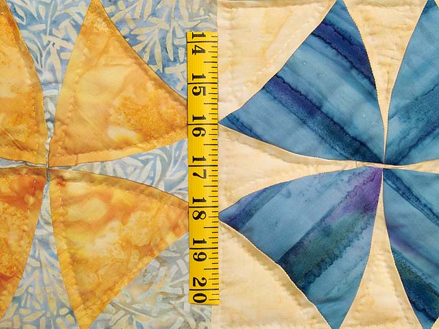 King Pastel Blue and Gold Winding Ways Quilt Photo 5
