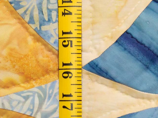 King Pastel Blue and Gold Winding Ways Quilt Photo 6