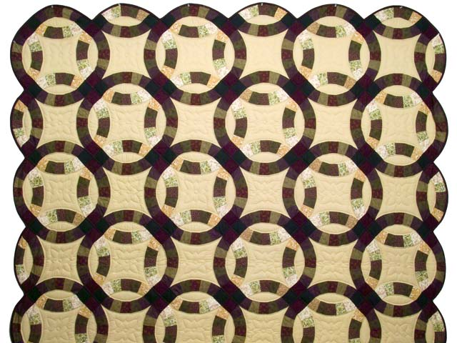 Earth Tones Double Wedding Ring Quilt Photo 2