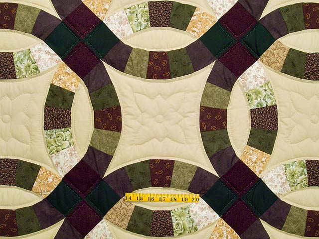 Earth Tones Double Wedding Ring Quilt Photo 4