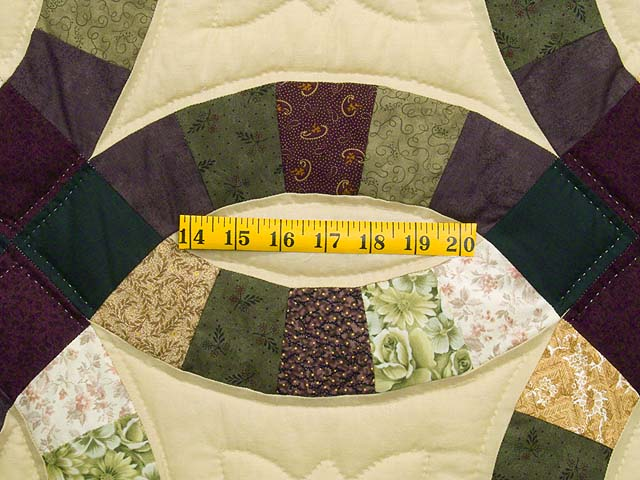 Earth Tones Double Wedding Ring Quilt Photo 5