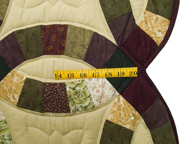 Earth Tones Double Wedding Ring Quilt Photo 7