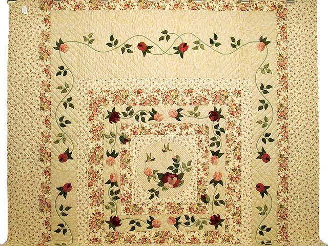King Rose and Wheat I Promised You a Rose Garden Quilt Photo 2