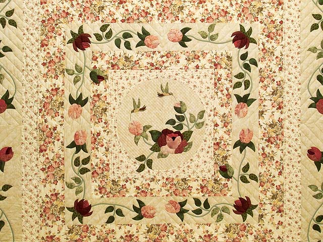 King Rose and Wheat I Promised You a Rose Garden Quilt Photo 3