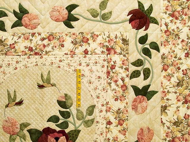 King Rose and Wheat I Promised You a Rose Garden Quilt Photo 4