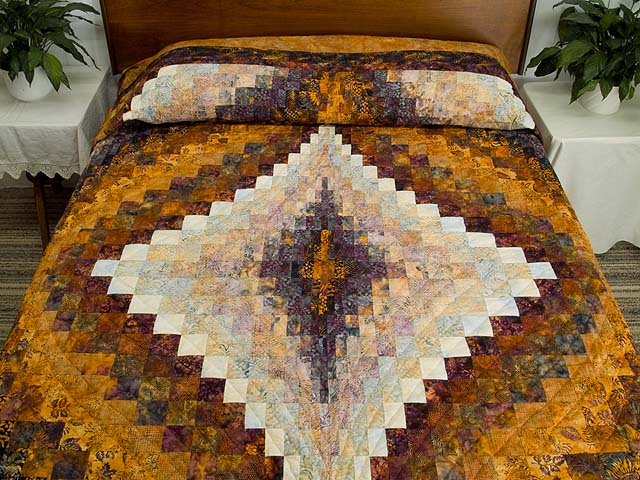 Hand Painted Diamond Bargello Quilt Photo 1