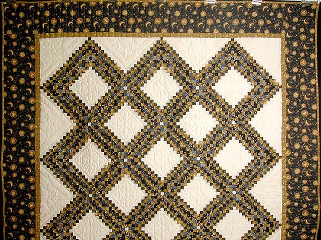 Black and Gold Philadelphia Pavement Quilt Photo 2