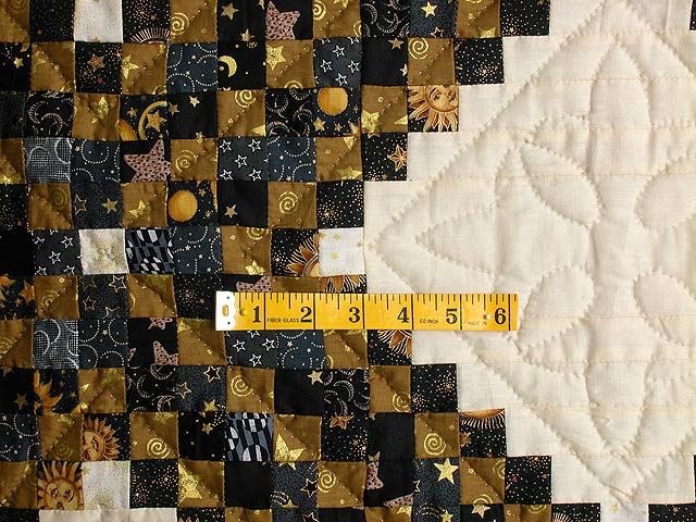 Black and Gold Philadelphia Pavement Quilt Photo 4