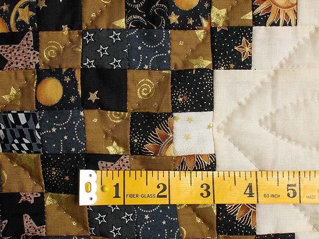 Black and Gold Philadelphia Pavement Quilt Photo 5