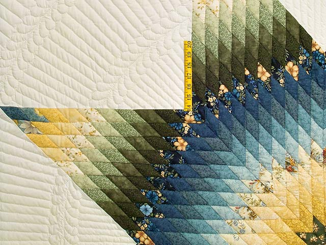 Blue Green and Yellow Lone Star Country Bride Quilt Photo 4