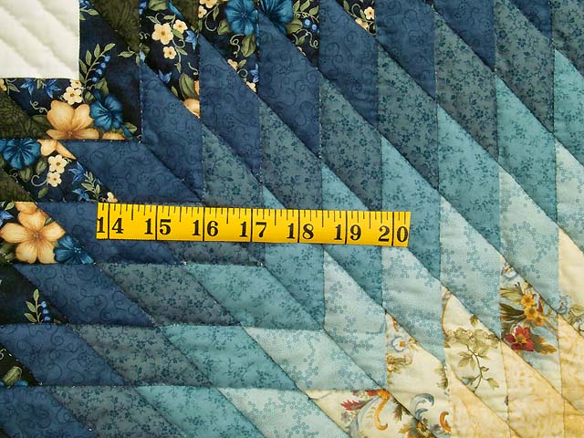 Blue Green and Yellow Lone Star Country Bride Quilt Photo 6