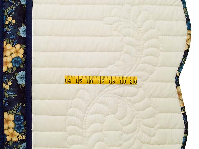 Blue Green and Yellow Lone Star Country Bride Quilt Photo 7