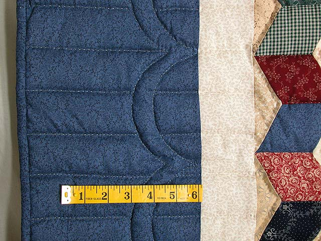 Twin-size Blue and Multi Tumbling Block Quilt Photo 5