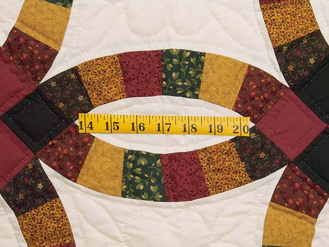 Extra Fine Earth Tones Double Wedding Ring Quilt Photo 5