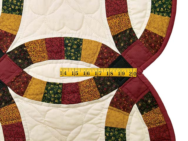 Extra Fine Earth Tones Double Wedding Ring Quilt Photo 7