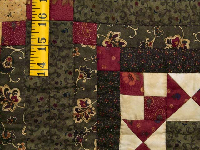 Moss Burgundy and Wheat Stars in the Cabin Quilt Photo 5