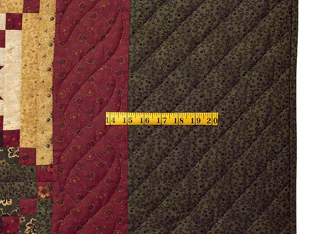 Moss Burgundy and Wheat Stars in the Cabin Quilt Photo 6
