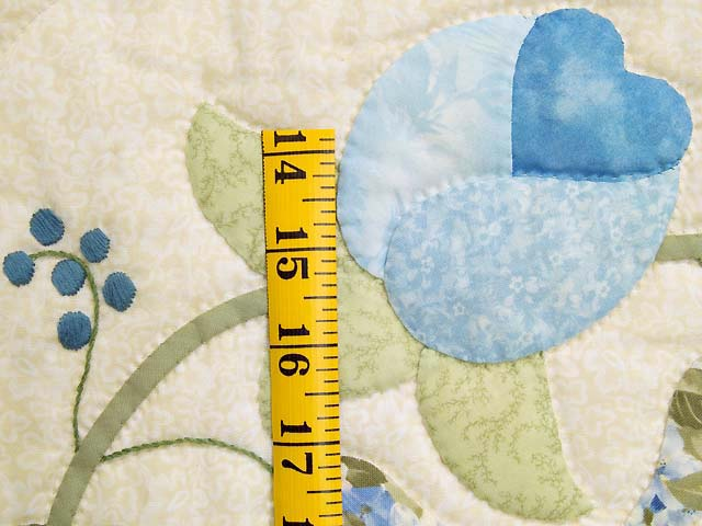 Blue and Willow Heart of Roses Quilt Photo 6