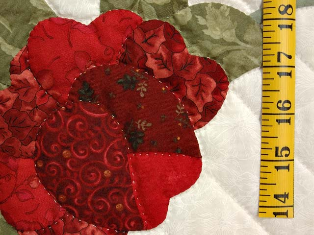 Red Roses on Ivory Lancaster Treasures Quilt Photo 6