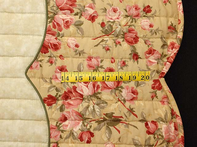 Carmel Peach Rose and Moss Spring Basket Quilt Photo 7