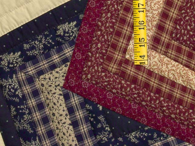 King Navy Burgundy and Tan Star Spin Quilt Photo 5
