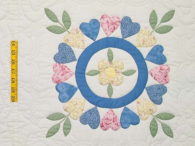 Pastel Appliqué Album Sampler Quilt Photo 5