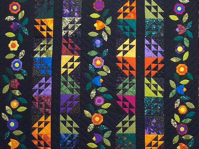 Multicolor Flower Power Quilt Photo 3