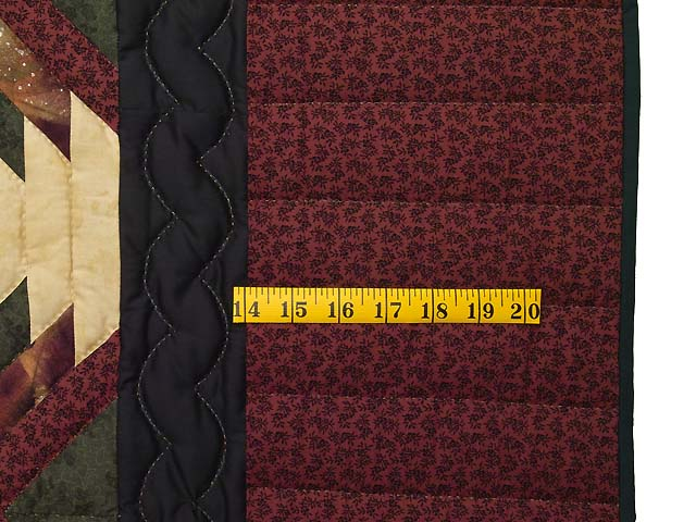 Burgundy Tan And Earth Tones Pineapple Quilt Photo 6