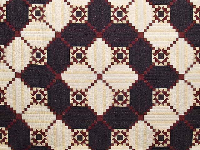 King Navy and Burgundy Stars in the Cabin Quilt Photo 3
