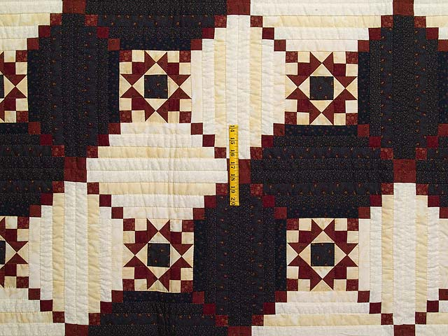 King Navy and Burgundy Stars in the Cabin Quilt Photo 4