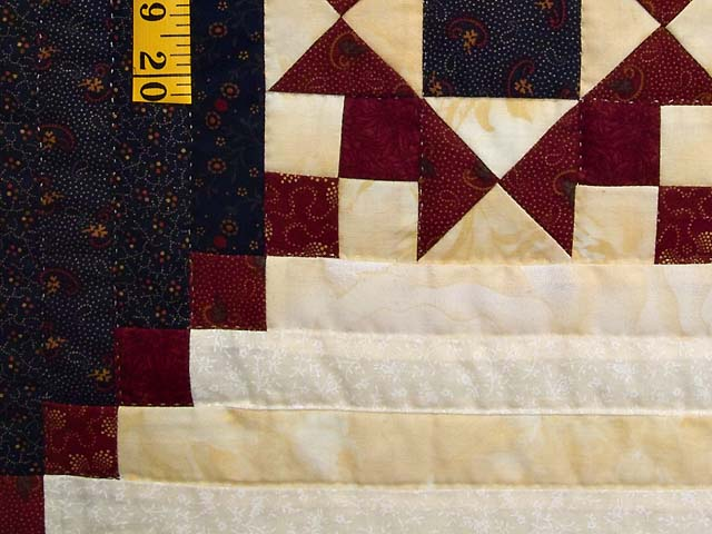 King Navy and Burgundy Stars in the Cabin Quilt Photo 6