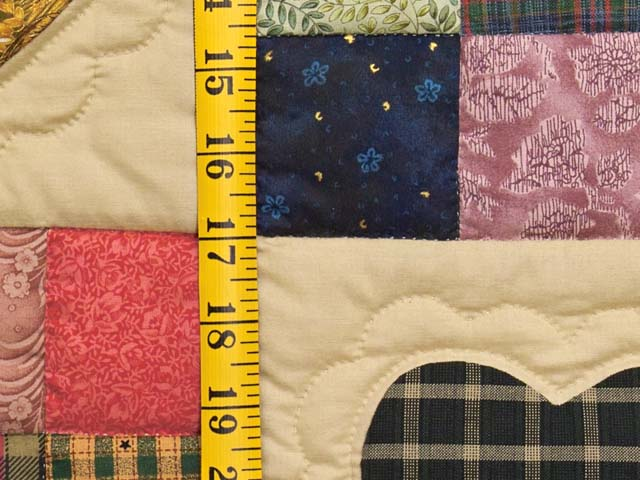 Olive Green Burgundy and Multi Hearts and Nine Patch Quilt Photo 5