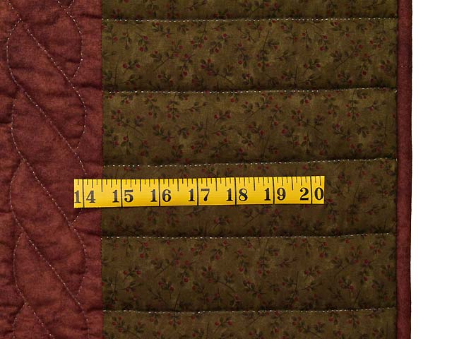 Olive Green Burgundy and Multi Hearts and Nine Patch Quilt Photo 6