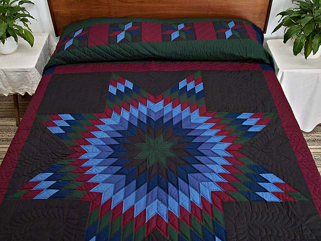 Amish Lone Star Quilt Photo 1