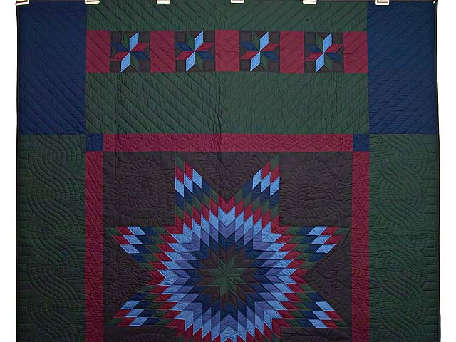 Amish Lone Star Quilt Photo 2