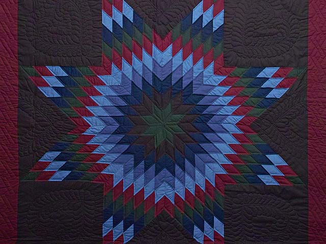 Amish Lone Star Quilt Photo 3