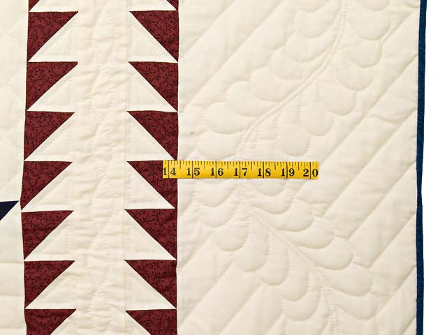 Blue Burgundy and Gold Star of Bethlehem Quilt Photo 7