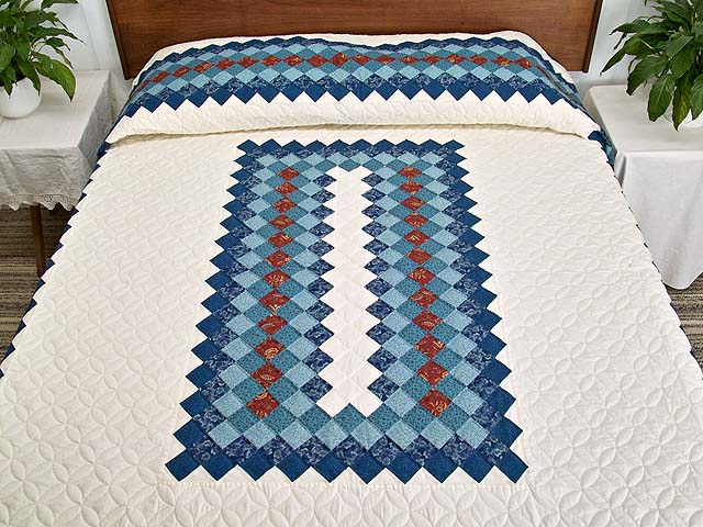 Blue And Cream Boston Commons Quilt