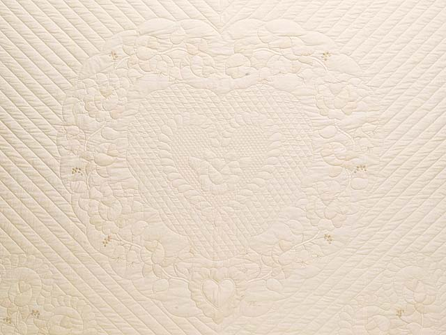 King All Neutrals Heart of Roses Quilt Photo 3