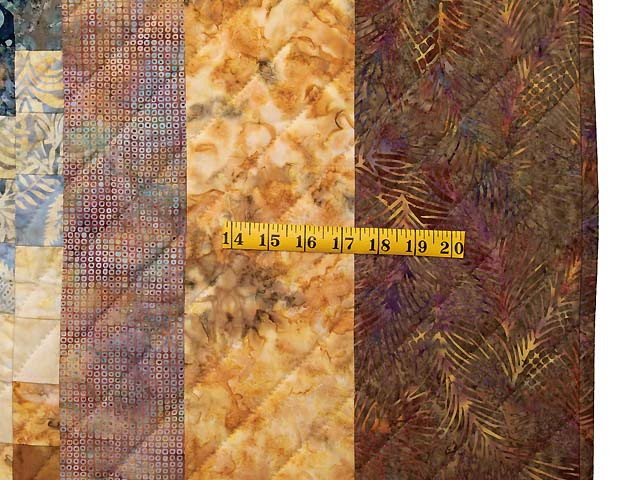 Hand Painted Bargello Wave Quilt Photo 7