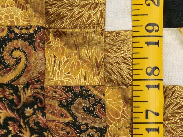 Black and Gold Irish Chain Quilt Photo 6