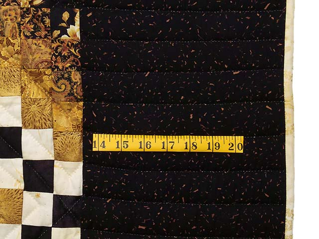 Black and Gold Irish Chain Quilt Photo 7