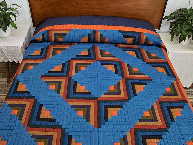 Amish Log Cabin Quilt Photo 1